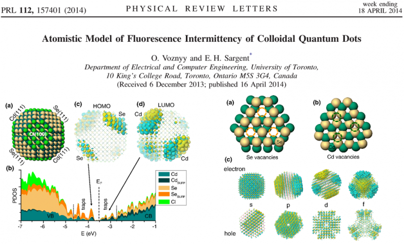 Atomistic Model of Fluorescence Intermittency of Colloidal Quantum Dots