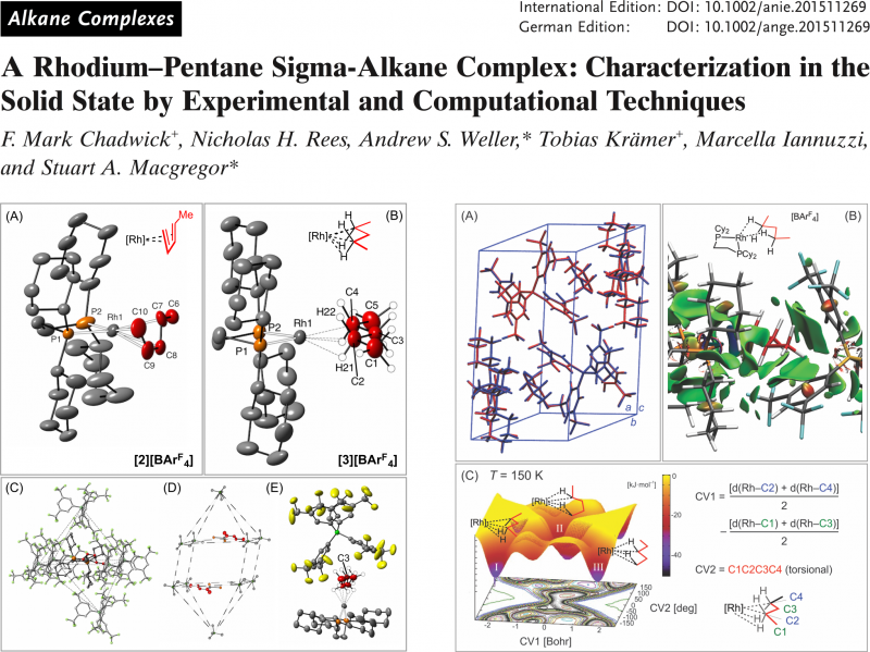 A Rhodium-Pentane Sigma-Alkane Complex: Characterization in the Solid State by Experimental and Computational Techniques