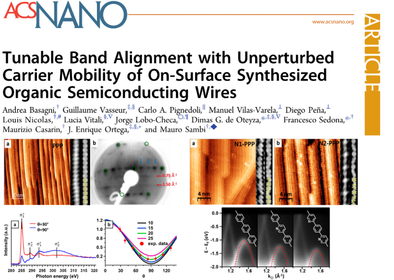 Tunable Band Alignment with Unperturbed Carrier Mobility of On-Surface Synthesized Organic Semiconducting Wires