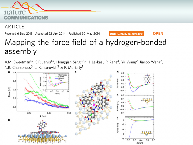 Mapping the force field of a hydrogen-bonded assembly