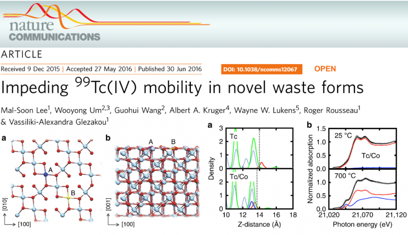 Impeding 99Tc(IV) mobility in novel waste forms