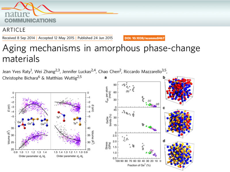 Aging mechanisms in amorphous phase-change materials