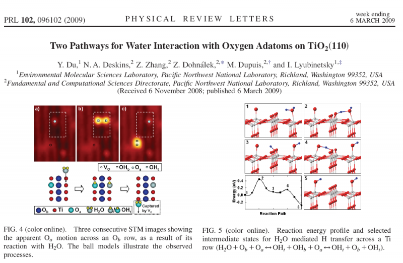 Two Pathways for Water Interaction with Oxygen Adatoms on TiO2