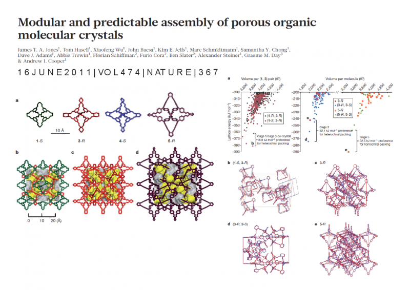 Modular and predictable assembly of porous organic molecular crystals